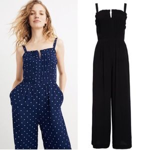 Madewell // Pintuck Cami Jumpsuit in Black